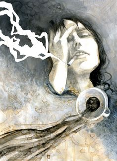 Coffee and Cigarettes by Checanty.deviantart.com on @DeviantArt