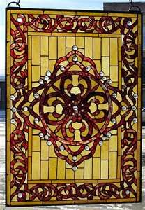Gold stained glass