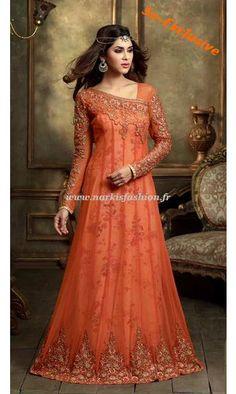 Robe de soirée Mohisha - Orange 140€ Taille 34 à 42 et livré sous 2 semaines