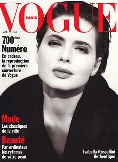 Isabella Rossellini, 1989. Photo: Brigitte Lacombe for French Vogue.