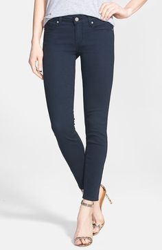 Free shipping and returns on Paige Denim 'Verdugo' Skinny Ankle Jeans (Azure) at Nordstrom.com. Supersoft stretch denim shapes a pair of lithe skinny jeans cropped at the ankle and dyed with a versatile dark-blue wash.