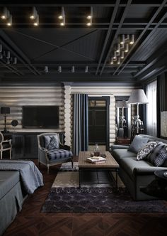 32 New Ideas For Living Room Wood Grey Interieur Living Room Grey, Home Living Room, Living Room Decor, Living Room Modern, Living Room Designs, Modern Hotel Room, Cozy Living, Small Living, Le Logis