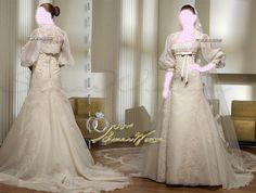 Saint Patrick , Long Sleeve Wedding Dresses Bridal Gown , Ivory SimPle Lace Chiffon Tulle , Idea