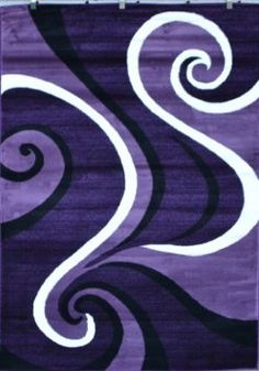 Amazon.com: 0327 Purple Black White 5'2x7'2 Area Rug Abstract Carpet: Furniture & Decor