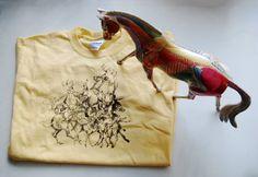 Youth Small Kid's T Shirt Deer Jumble Illustration by orangebarrel, $20.00