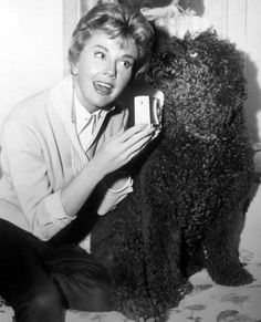 Doris Day and her dog 'Smudge'