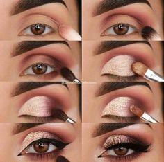 23 Pure Smokey Eye Make-up Make You Sensible eye make-up tutorial; eye make-up for brown eyes; eye make-up pure; Eye Makeup Tips, Makeup Hacks, Skin Makeup, Eyeshadow Makeup, Makeup Ideas, Makeup Inspo, Drugstore Makeup, Makeup Products, Easy Eyeshadow