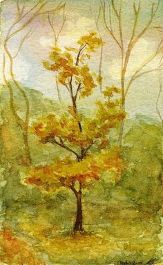 Golden Tree by Chashirskiy.deviantart.com on @deviantART