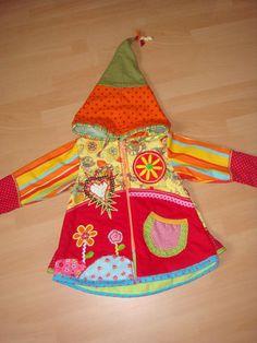 ROOS*Farbenmix*Übergang*Zipfel-Kapuzen-Jacke*Gr.104/110/116*Unikat NEU ggf.92/98 | eBay