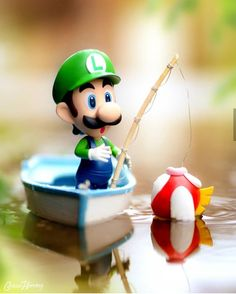 Go Luigi >w< he did it he caught one im so proud of him Super Mario Bros, Super Mario World, Super Mario Brothers, Super Smash Bros, Mario E Luigi, Mini Mario, Pogo Games, Deco Gamer, Legend Of Zelda