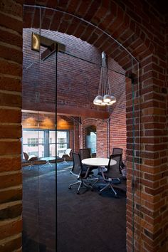 47 awesome artistic exposed brick architecture design - Modul Home Design Modern Office Decor, Industrial Office Design, Industrial Interiors, Office Interior Design, Interior Exterior, Office Interiors, Exterior Design, Industrial Style, Office Ideas