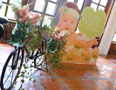 Vera's Peach and Green themed party - Entrance Peach And Green, Party Themes, Entrance, Bridal Shower, Shabby Chic, Birthday, Fun, Wedding, Color