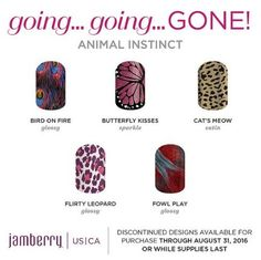 Retiring #Jamberry #wraps will only be available whilst supplies last through August 31. https://jolenegsjams.jamberry.com/…/sh…/shop/for/nail-wraps…