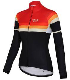 winter sun womens long sleeve thermal cycling jersey front Women s Cycling  Jersey dfeb7f0f3