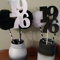 Items similar to Graduation Party or High School Reunion Centerpiece Tulle Pom Pom Wands for Centerpiece – Set of 10 or 12 on Etsy – Artsupplies Pom Pom Centerpieces, Reunion Centerpieces, Graduation Party Centerpieces, Graduation Theme, Graduation Decorations, Balloon Decorations, Graduation Ideas, Tulle Poms, Pom Poms