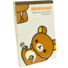 Rilakkuma Notebook & Stickers - Live in Ease notebook, only $9.99 at OyatsuCafe.com