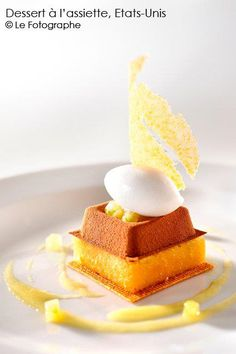 Contemporary Cold Plated Dessert