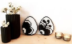 Hama beads Easter egg Royal Copenhagen home made by me Nathalie Ahrenst