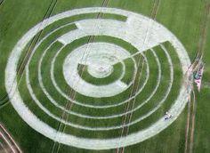 Polar Clock 3 Crop Circle, Manton Drove, Marlborough, Wiltshire, UK