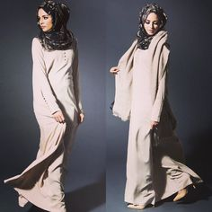 Perfect Pairings Part 2  Pintuck Beige & Camoufler Chiffon Silk Hijab - Add Sugar Pink Wool Stole to give some texture  www.aabcollection.com  #abaya   #AabCollection   #ootd   #ootdindo   #SimplyCovered   #hijabiootd   #hijabvogue   #hijabtrends   #Hijabfashion   #hijaberindonesia   #hijabinspiration   #woolstole. #workwear #Abayachic #naturalfabric #beige