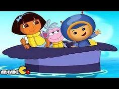 Dora The Explorer: Dora & Team Umizoomi New Games 2014 - Umi shark Race ...