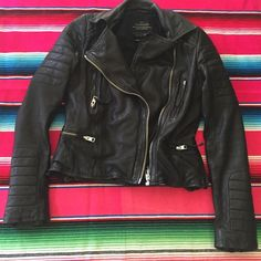 All saints Italian leather jacket size 4 All saints Italian leather jacket size 4.Open to offers No PP Good vibes only!  All Saints Jackets & Coats