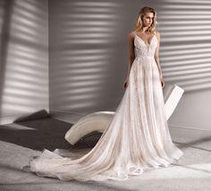 Courtesy of Nicole Spose Wedding Dresses;it Courtesy of Nicole Spose Wedding Dresses; La Sposa Wedding Dresses, Blush Pink Wedding Dress, Gorgeous Wedding Dress, Bridal Dresses, Beautiful Dresses, Bridesmaid Dresses, Top Rosa, Nicole Fashion, Elegant Ball Gowns