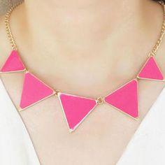 Triangle Geo Pendant Short Necklace