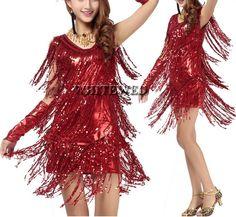 PURPLE Latin CHA CHA JIVE FRINGE dance BODYSUIT dress