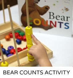 Preschool Math with Bear Count: One of my very favorites, however, is a preschool math activity with the book Bear Counts. *Great list of educational ideas and printables