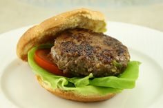 Korean BBQ Beef Burger: (makes 4 patties)
