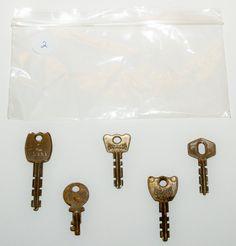 Assorted Keys   Set Of 5   K2