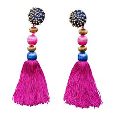 Yves Saint Laurent Runway Tassel Earrings 1991 YSL documented | 1stdibs.com #1stdibsHoliday