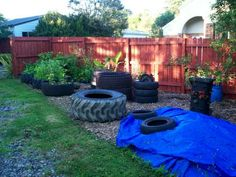 Fish Pond From Tractor (or Car) Tires : 9 Steps (with Pictures) - Instructables Tire Pond, Tire Garden, Garden Pond, Reuse Old Tires, Recycled Tires, Reuse Recycle, Recycled Crafts, Tractor Tire, Backyard Projects