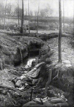 Dead German soldier, Plessis-de-Roye, Picardy, France, 30th March 1918. Artist: Unknown