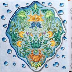 «#johannabasford #lostocean #coloringbook #coloringforadults #coloring_secrets #jardimsecreto»