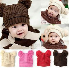 Absolutely Adorable for your Baby Girl or Baby Boy. Warm for Winter. Beanie  fits. Crochet HatsCrochet ... c36ac39311fb