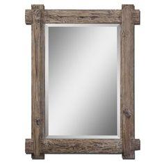 Wooden Rectangular Wall Mirror