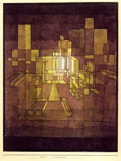 The School of Bauhaus/ Paul Klee, Urban Perspectve, Modern Art, Abstract Expressionism, Artist Inspiration, Paul Klee Paintings, Painting, Art, Abstract, Art History, Paul Klee