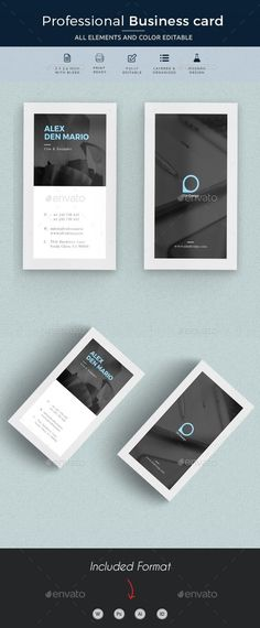 #Business #Card - Business Cards Print Templates Download here:  https://graphicriver.net/item/business-card/20364872?ref=alena994