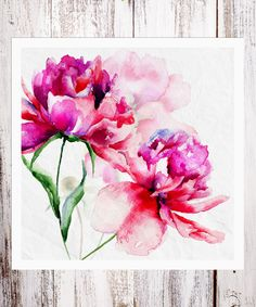 Another great find on Large Floral Art Print Peony Drawing, Painting & Drawing, Watercolor Flowers, Watercolor Paintings, Watercolors, Art Aquarelle, Arte Floral, Art Graphique, Botanical Art