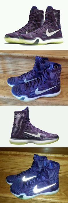 Basketball: Nike Kobe X Elite Basketball Shoes Mens Us 9 Purple Violet  718763-505