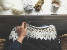 """""""So in peace our task we ply, Pangur Bán, my cat, and I…"""" – Ways of Wood Folk Icelandic Sweaters, Twine, Hand Sewing, Crochet Necklace, Peace, Knitting, Cats, Folk, Vsco"""