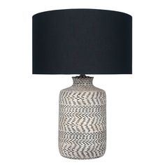 Textured Table Lamp, Natural and Black | Lighting - Accessories