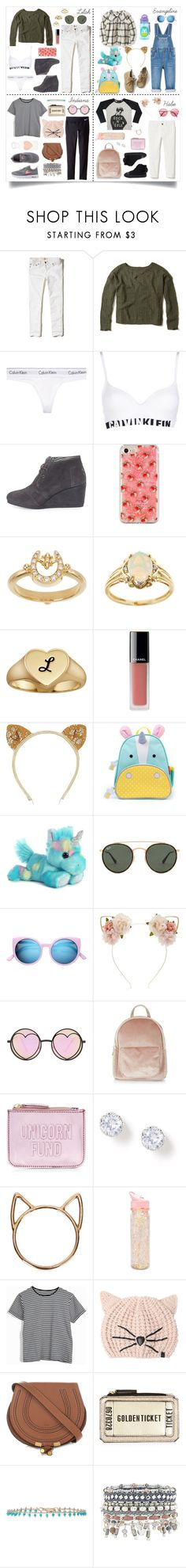 """""""Me and my babies 💓"""" by littlewhitedaisy ❤ liked on Polyvore featuring Hollister Co., Calvin Klein Underwear, TOMS, Temple St. Clair, Anika and August, Chanel, Old Navy, Ray-Ban, Forever 21 and Betsey Johnson"""