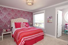 Our clients let their daughter get involved in designing her room - and the results are beautiful! Serene Bedroom, Bedroom Colors, Custom Built Homes, Vancouver, Bedrooms, Daughter, Colorful, Dark, Modern