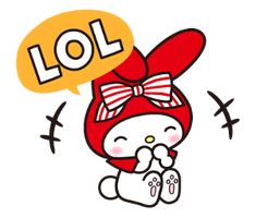 Sanrio Characters, Disney Characters, Melody Hello Kitty, My Melody Wallpaper, Line Sticker, Stickers, Red Riding Hood, Anime Chibi, Tigger