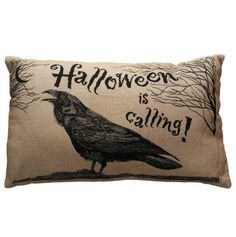 Halloween Raven Pillow