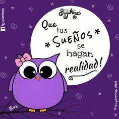 Sueña!!! ;) May all your dreams come true! #guyuminos #buho #sueños