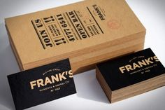 """Business card """"Frank's"""""""